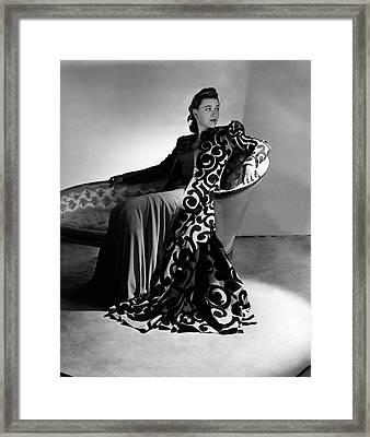 Bridget Bate Tichenor Sitting On A Chaise Lounge Framed Print