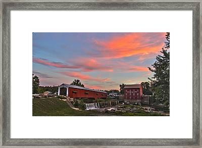 Bridgeton At Sunset Framed Print by Clayton Kelley