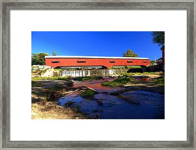Bridgeton Covered Bridge 1 Framed Print