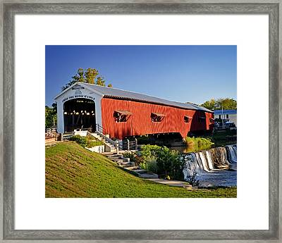 Bridgeton Covered Bridge 3 Framed Print