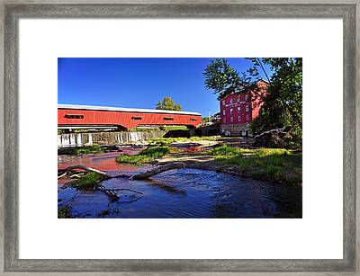 Bridgeton Covered Bridge 4 Framed Print