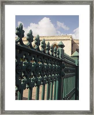 Bridgetown Gate Barbados Framed Print by Bruce Sommer
