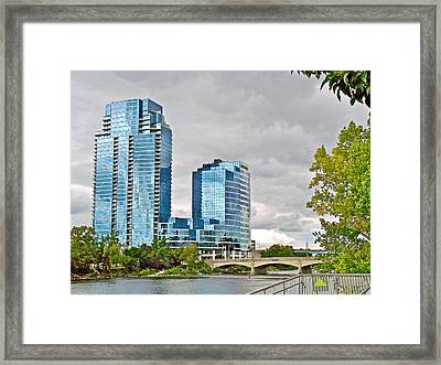 Bridgewater Place On The Grand River In Grand Rapids-michigan Framed Print by Ruth Hager