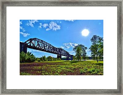 Bridgework Framed Print by Paul Hennrich
