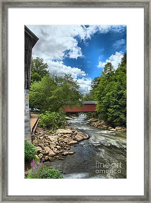 Bridging Slippery Rock Creek Framed Print