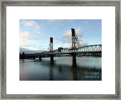 Bridging The River Framed Print by Susan Garren