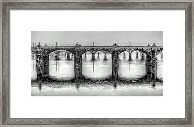 Bridging The Susquehanna  Framed Print by JC Findley
