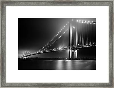 Bridging Verrazano Narrows Framed Print