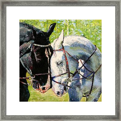 Bridled Love Framed Print by John Lautermilch
