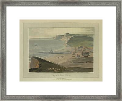 Bridport Harbour Framed Print by British Library