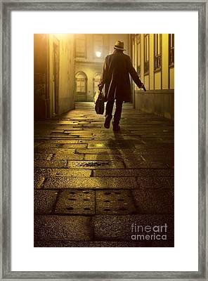 Briefcase Gangster Framed Print by Carlos Caetano