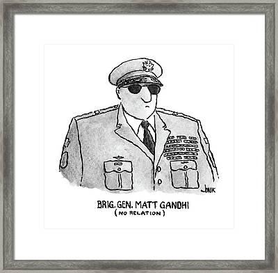 Brig. Gen. Matt Gandhi Framed Print by John Jonik