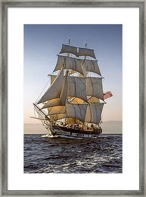 Brig Pilgrim Off Santa Barbara Framed Print