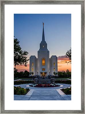 Brigham City Dipper Temple Framed Print by La Rae  Roberts