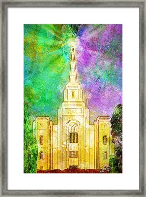 Framed Print featuring the painting The Heavens Were Opened by Greg Collins