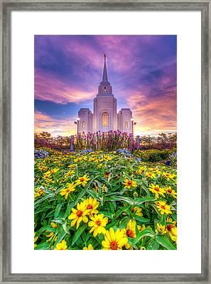 Brigham City Temple Framed Print