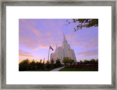 Brigham City Temple I Framed Print by Chad Dutson