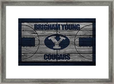 Brigham Young Cougars Framed Print by Joe Hamilton