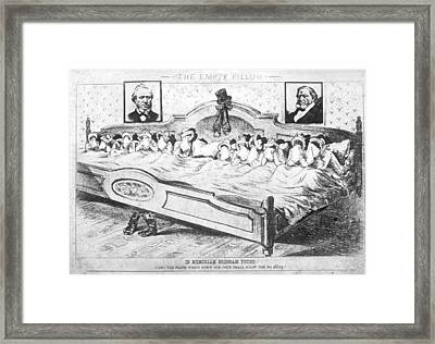 Brigham Young Wives Cartoon Framed Print by Underwood Archives