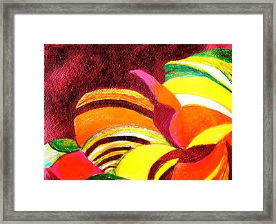 Bright Abstraction Framed Print by Anne-Elizabeth Whiteway