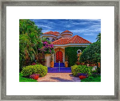 Bright And Beautiful - Florida Framed Print by Frank J Benz