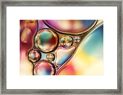 Bright And Bold Bubble Abstract Framed Print by Sharon Johnstone