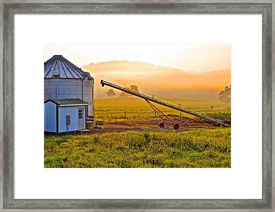 Bright And Early Framed Print by Frozen in Time Fine Art Photography