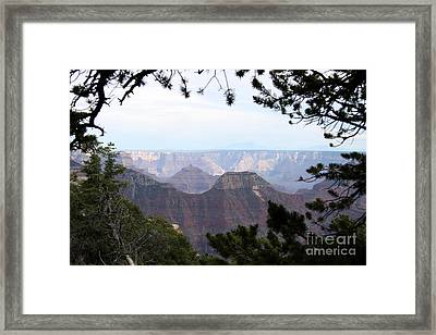 Bright Angel Point Trail View Framed Print