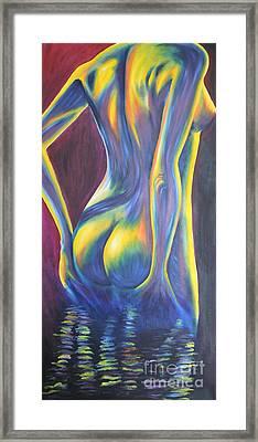 She Glows Framed Print