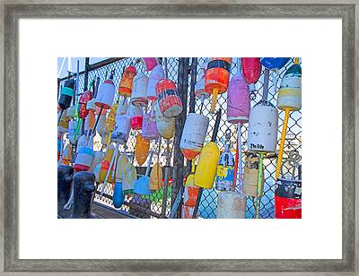 Bright Buoys Framed Print