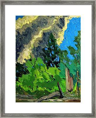 Bright Cloud Drift Framed Print by Charlie Spear