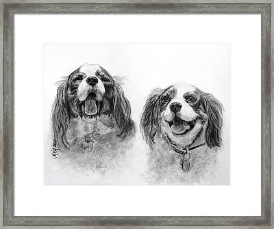 Bright Double Trouble Framed Print