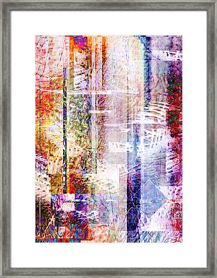 Bright Fall Colors Abstract 1 Framed Print by Jean Moore
