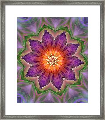 Framed Print featuring the digital art Bright Flower by Lilia D