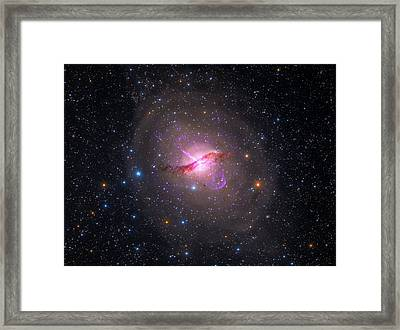 Bright Galaxy Centaurus A Framed Print by Paul Fearn