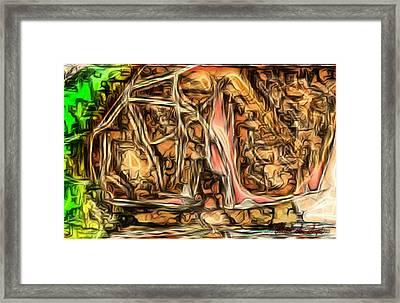 Bright Gloomy Roar Oar  Framed Print