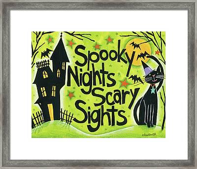 Bright Halloween IIi Framed Print by Anne Tavoletti