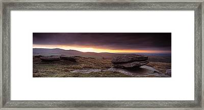 Bright Horizon With Dark Clouds Framed Print by Panoramic Images