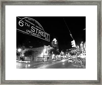 Bright Lights At Night Framed Print