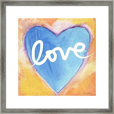 Bright Love Framed Print by Linda Woods