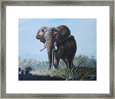 Framed Print featuring the painting Bright Morning by Anthony Mwangi