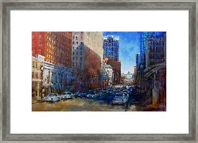 Bright Morning Shadows Framed Print