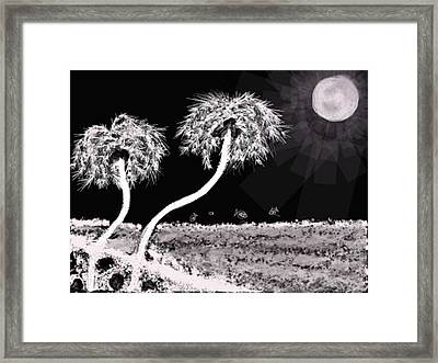 Bright Night In The Tropics Framed Print