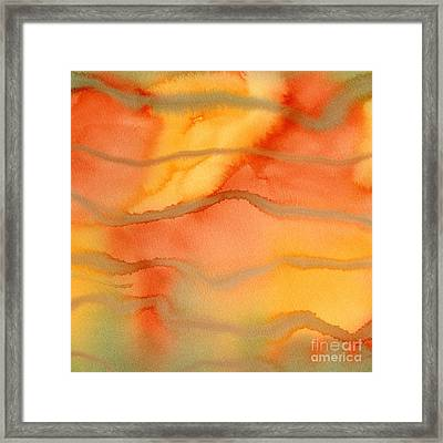 Bright Orange And Yellow Abstract Design 1 Framed Print by Sharon Freeman