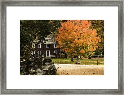 Framed Print featuring the photograph Bright Orange Autumn by Jeff Folger