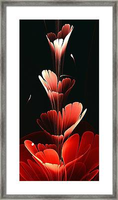 Bright Red Framed Print by Anastasiya Malakhova