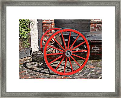 Bright Red Framed Print by Linda Brown