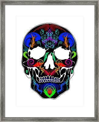 Bright Skull Framed Print by Mauro Celotti