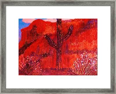 Bright Sedona Memories Framed Print