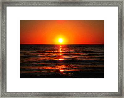 Bright Skies - Sunset Art By Sharon Cummings Framed Print